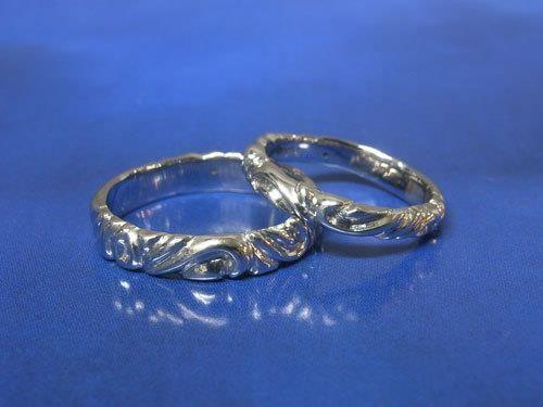 イニシャルモチーフ結婚指輪(プラチナ)
