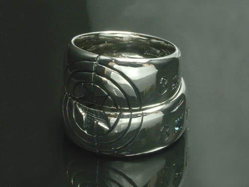 シルバー幅広オーダーメイド結婚指輪の紹介