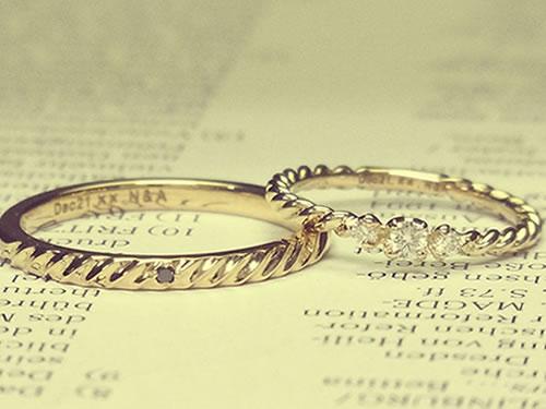 マリッジリング、結婚指輪の作品ご紹介1