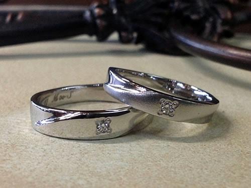 結婚指輪手作り作品ご紹介1