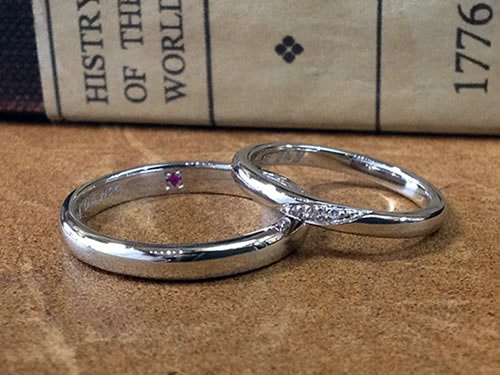 結婚指輪手作り作品ご紹介3