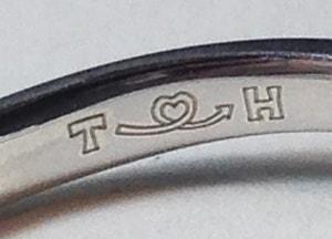結婚指輪文字彫刻サンプル3