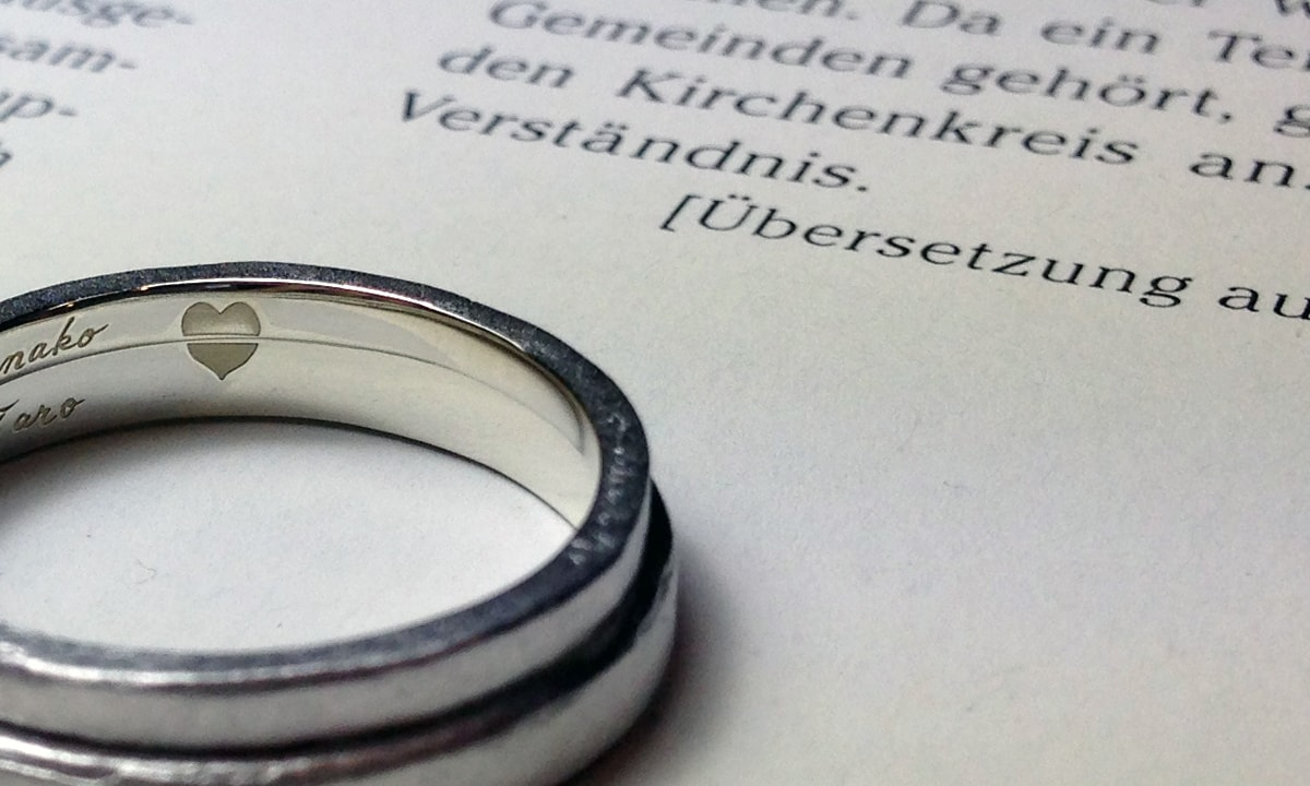 結婚指輪オーダー彫刻
