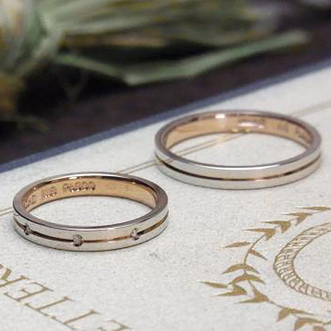 マリッジリング、結婚指輪 「notre avenir(ノートル・アヴニール)【鍛造】」