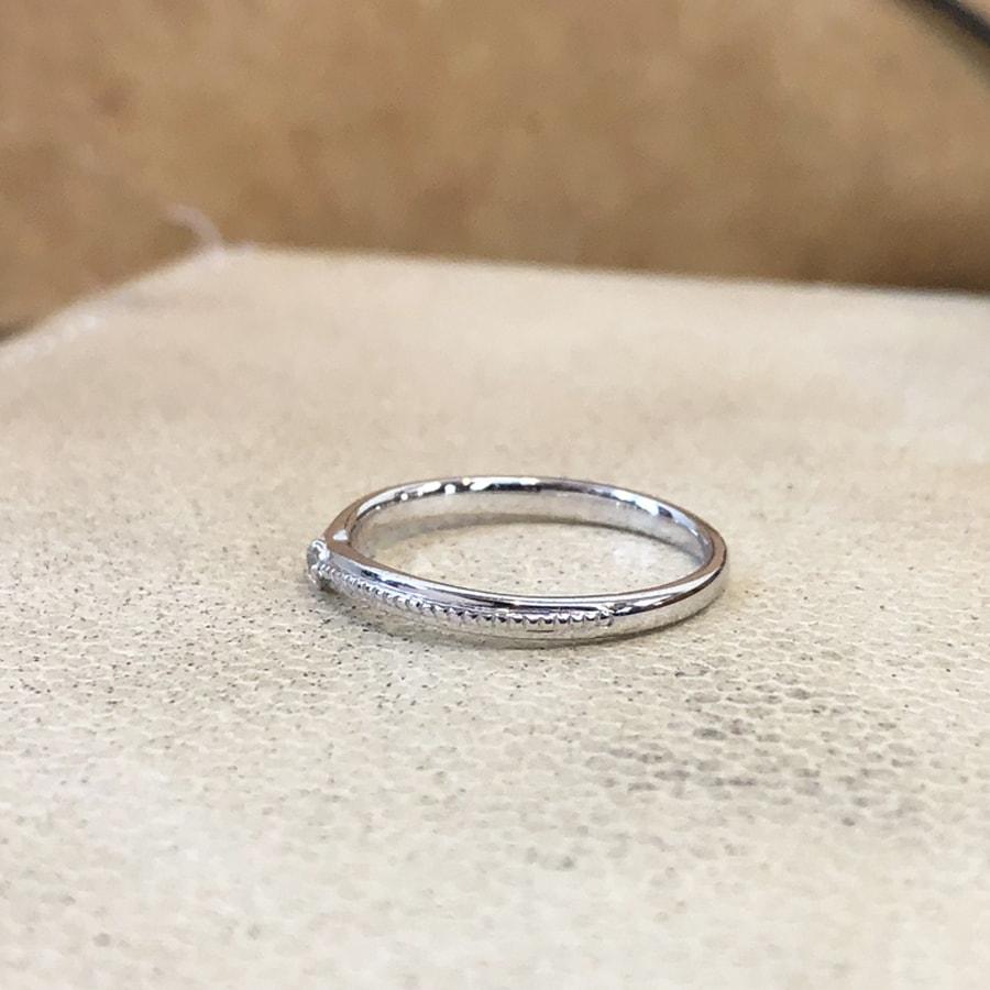 マリッジリング、結婚指輪 「chiaro(キアーロ)」女性用左側