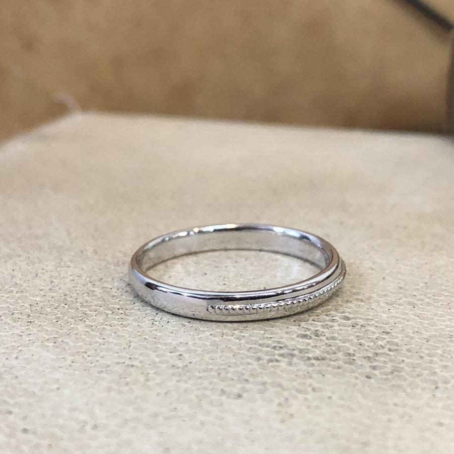 マリッジリング、結婚指輪 「chiaro(キアーロ)」男性用右側