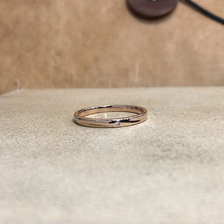 マリッジリング、結婚指輪 「chic(シック)」女性用正面