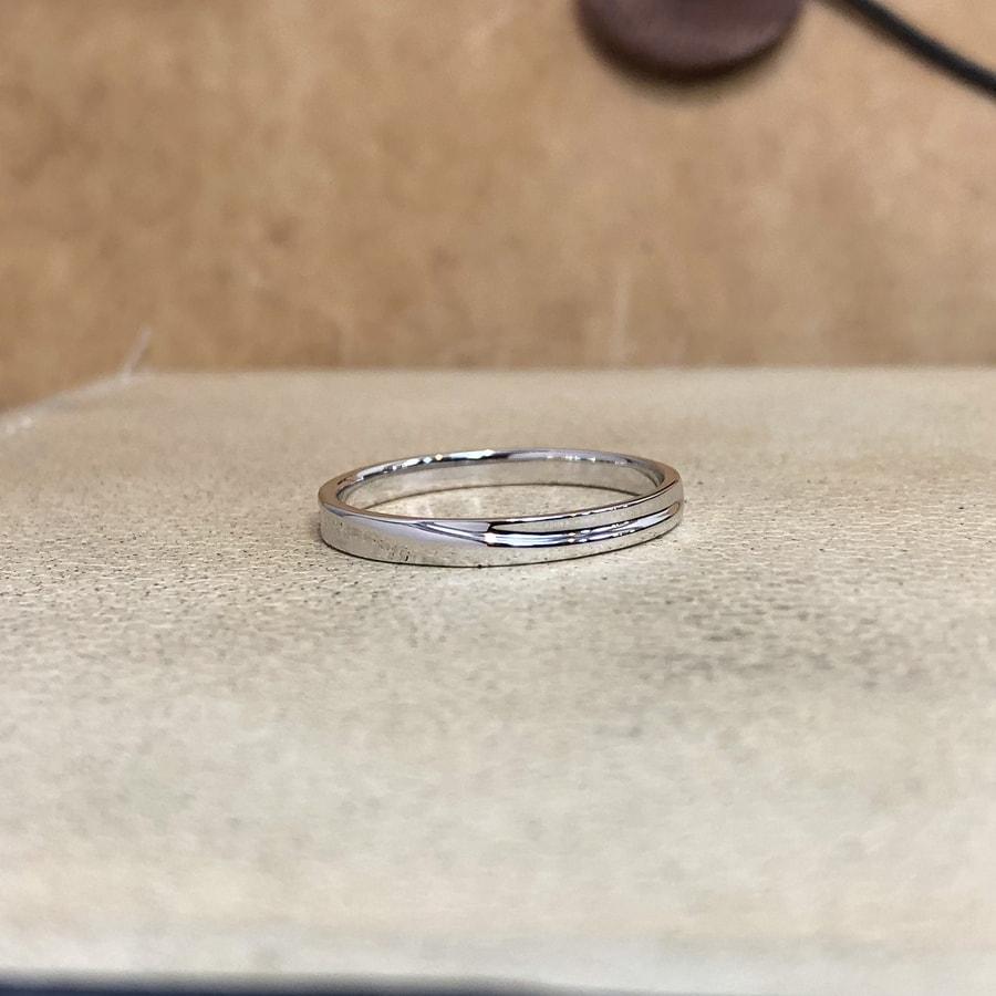 マリッジリング、結婚指輪 「chic(シック)」男性用正面