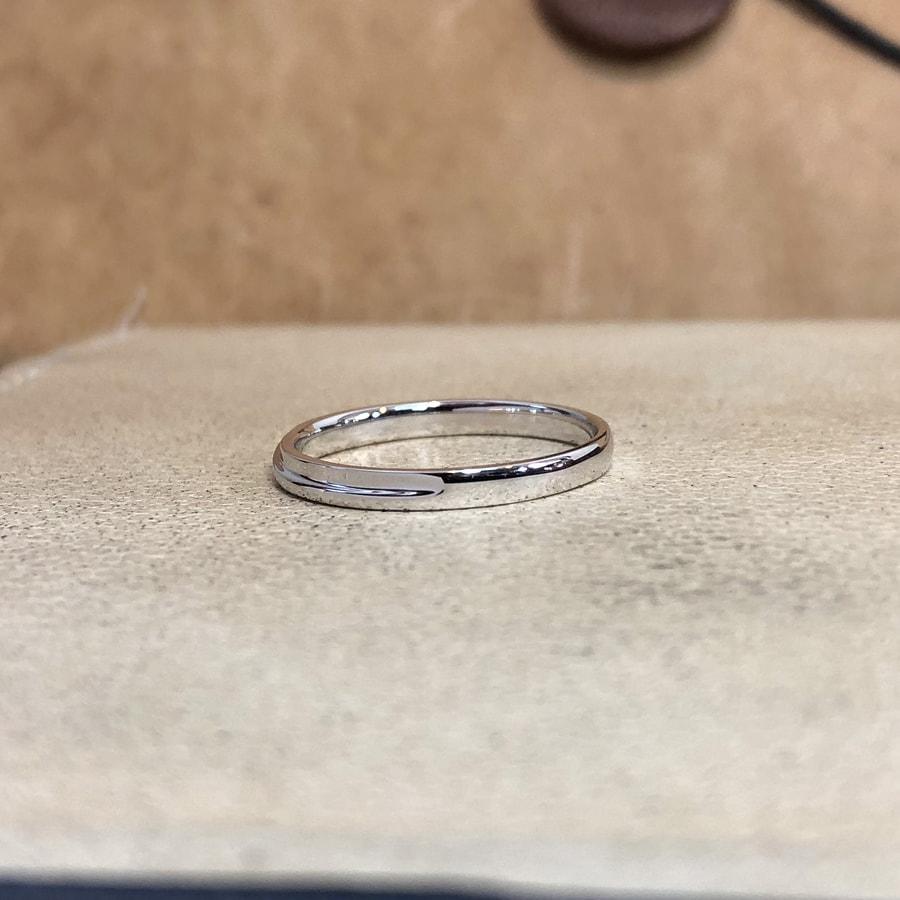 マリッジリング、結婚指輪 「chic(シック)」男性用左側