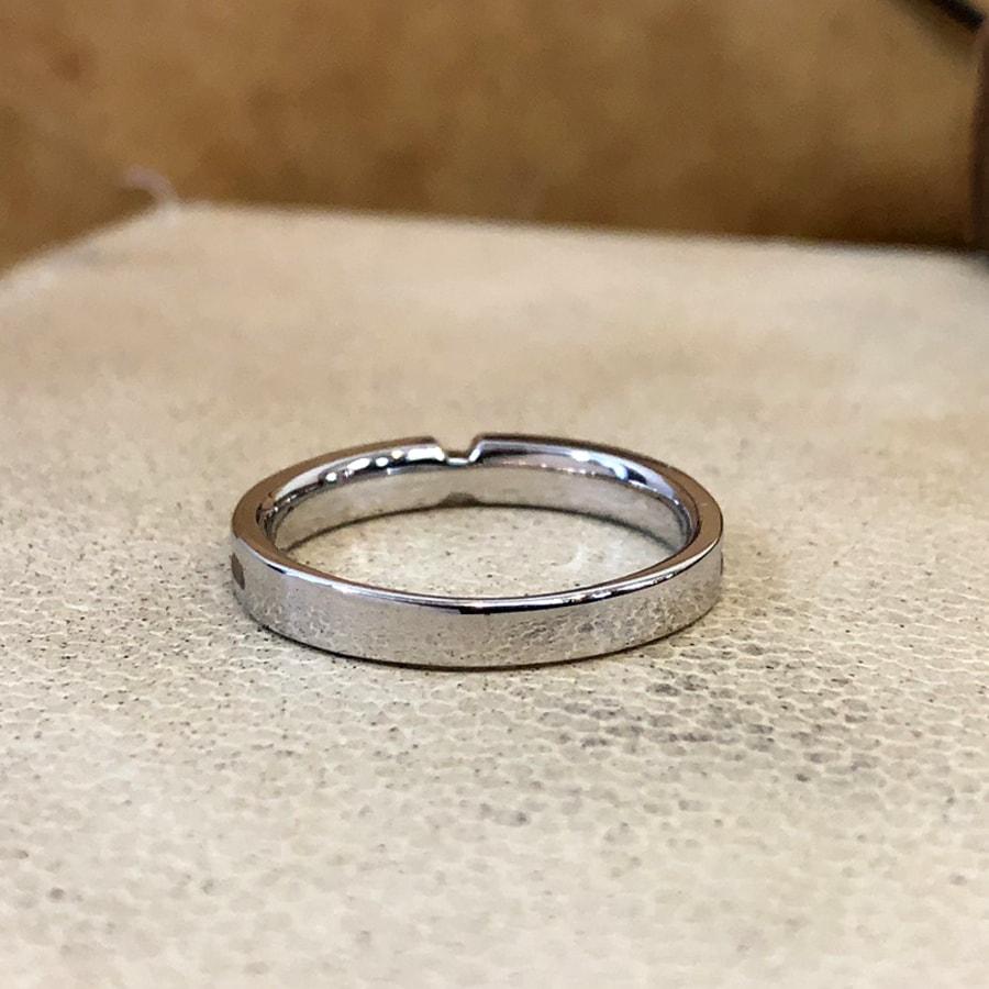 マリッジリング、結婚指輪 「destino(ディスティーノ)」女性用後ろ