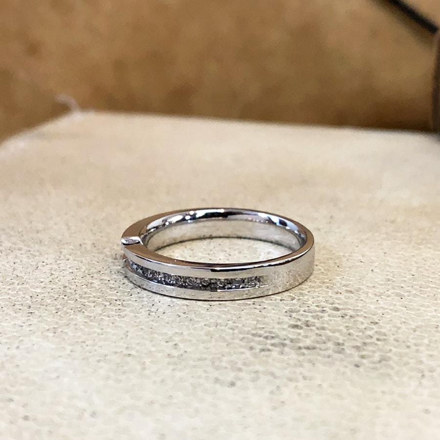 マリッジリング、結婚指輪 「destino(ディスティーノ)」女性用左側