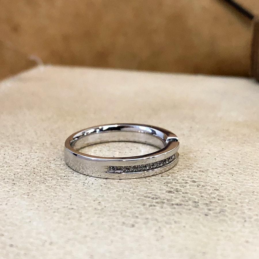 マリッジリング、結婚指輪 「destino(ディスティーノ)」女性用右側