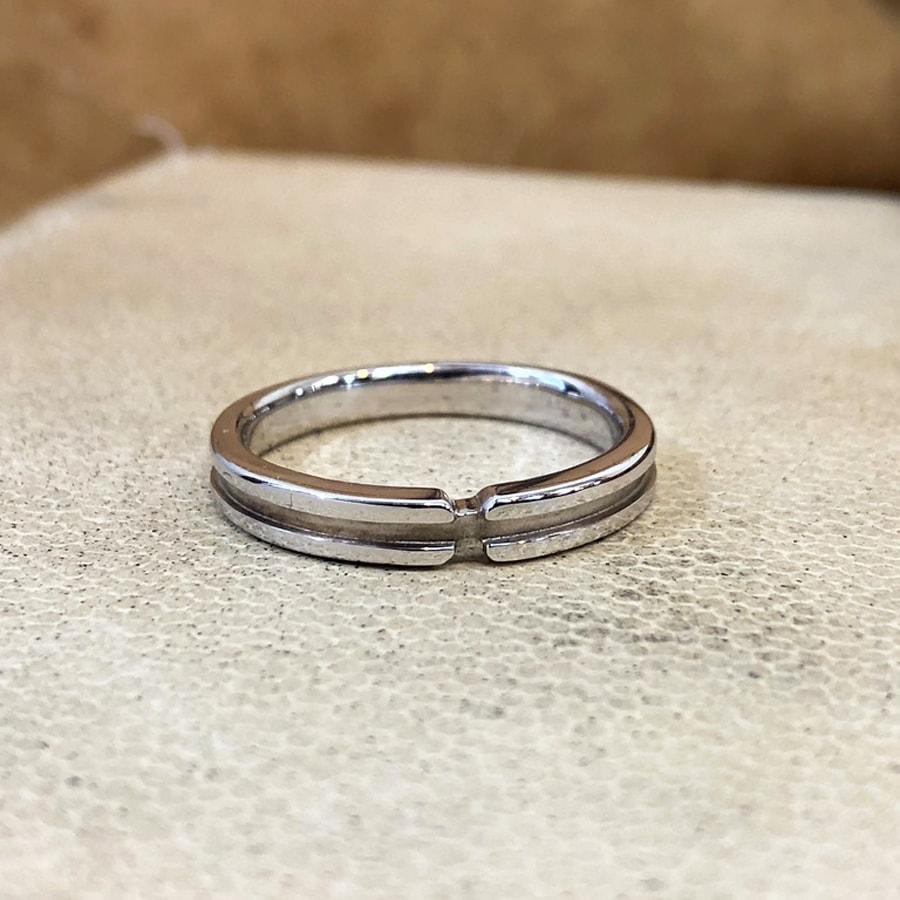 マリッジリング、結婚指輪 「destino(ディスティーノ)」男性用正面