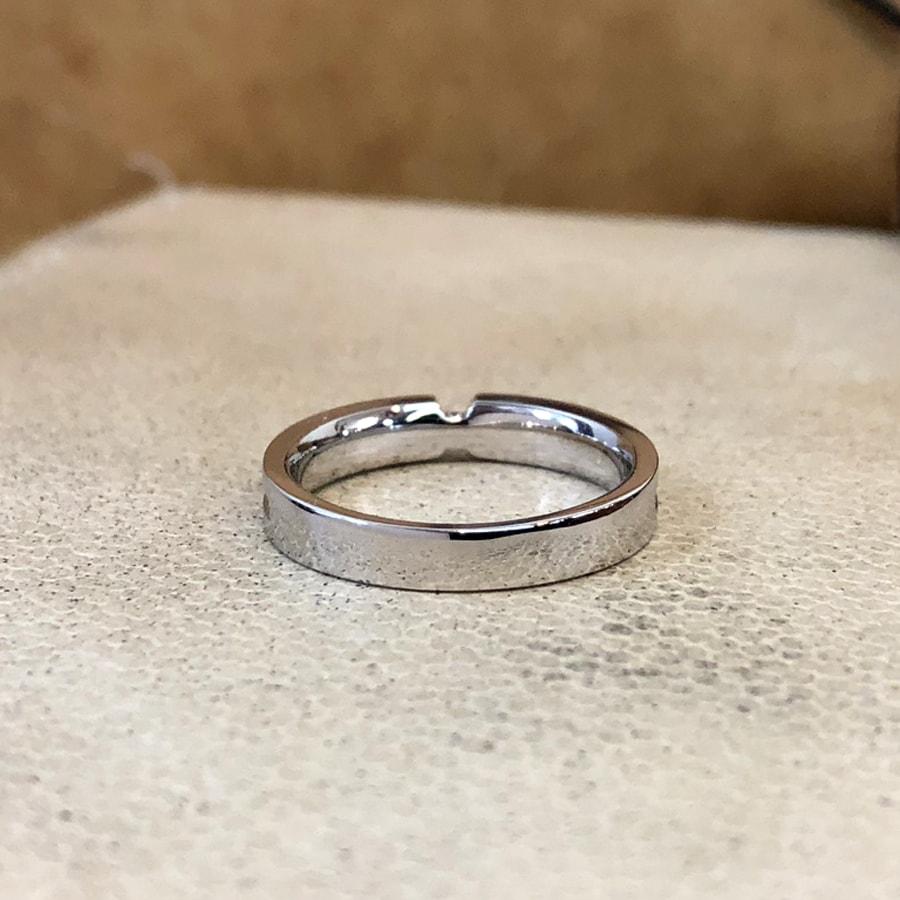 マリッジリング、結婚指輪 「destino(ディスティーノ)」男性用後ろ