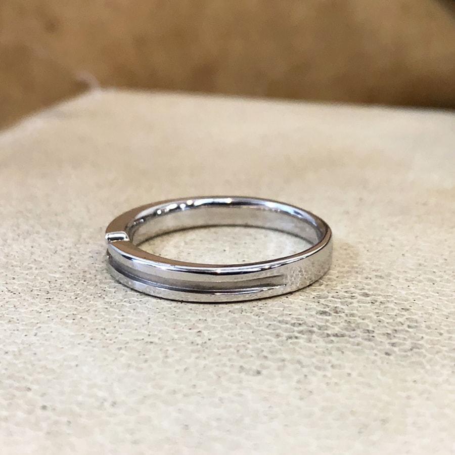 マリッジリング、結婚指輪 「destino(ディスティーノ)」男性用左側
