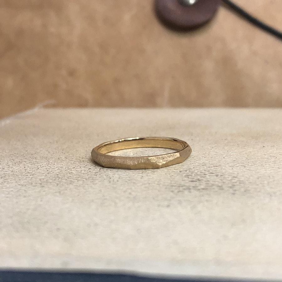 マリッジリング、結婚指輪 「dur(デュール)」女性用正面