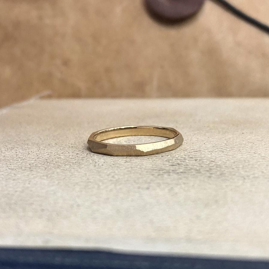 マリッジリング、結婚指輪 「dur(デュール)」女性用左側