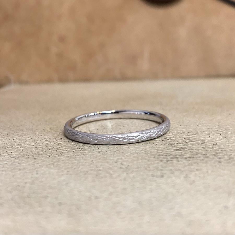 マリッジリング、結婚指輪 「folio(フォリオ)」男性用左側