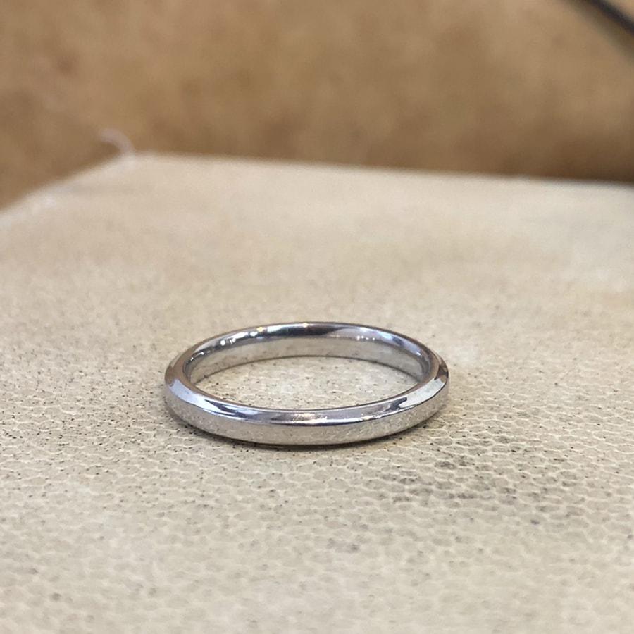 マリッジリング、結婚指輪 「grazia(グラッツィア)」女性用後ろ