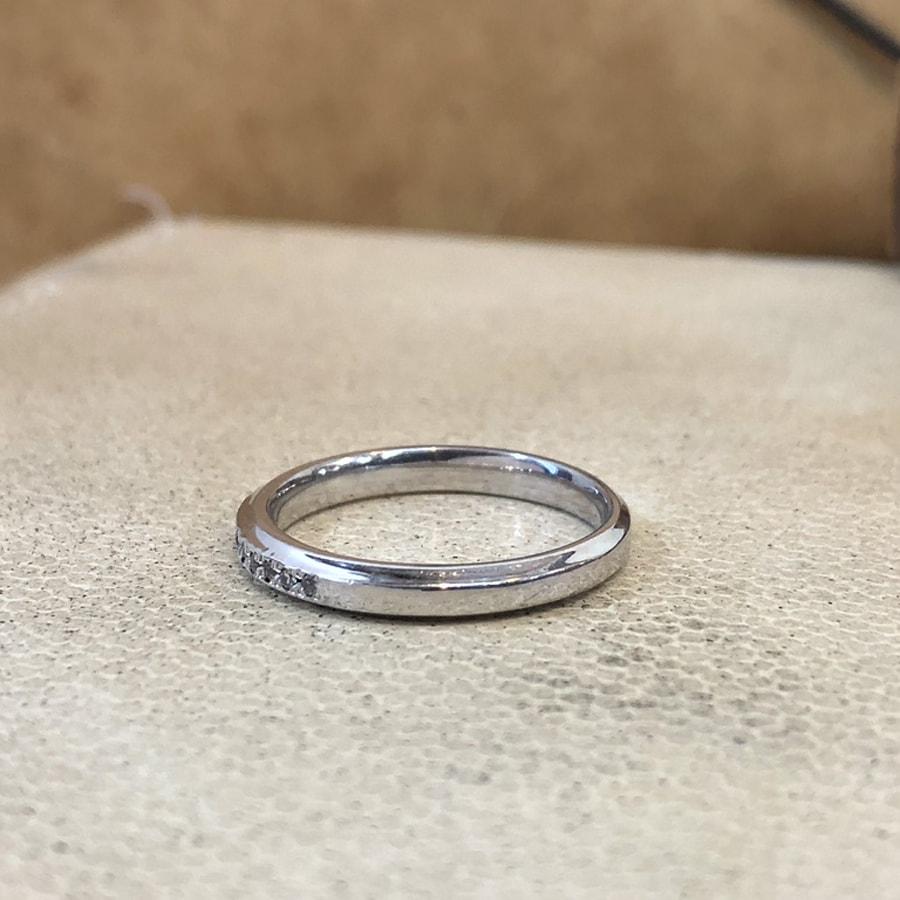 マリッジリング、結婚指輪 「grazia(グラッツィア)」女性用左側