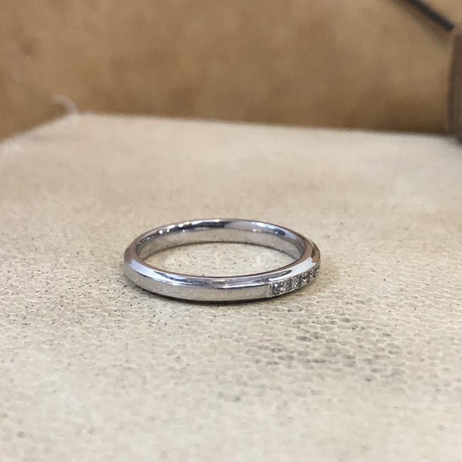 マリッジリング、結婚指輪 「grazia(グラッツィア)」女性用右側