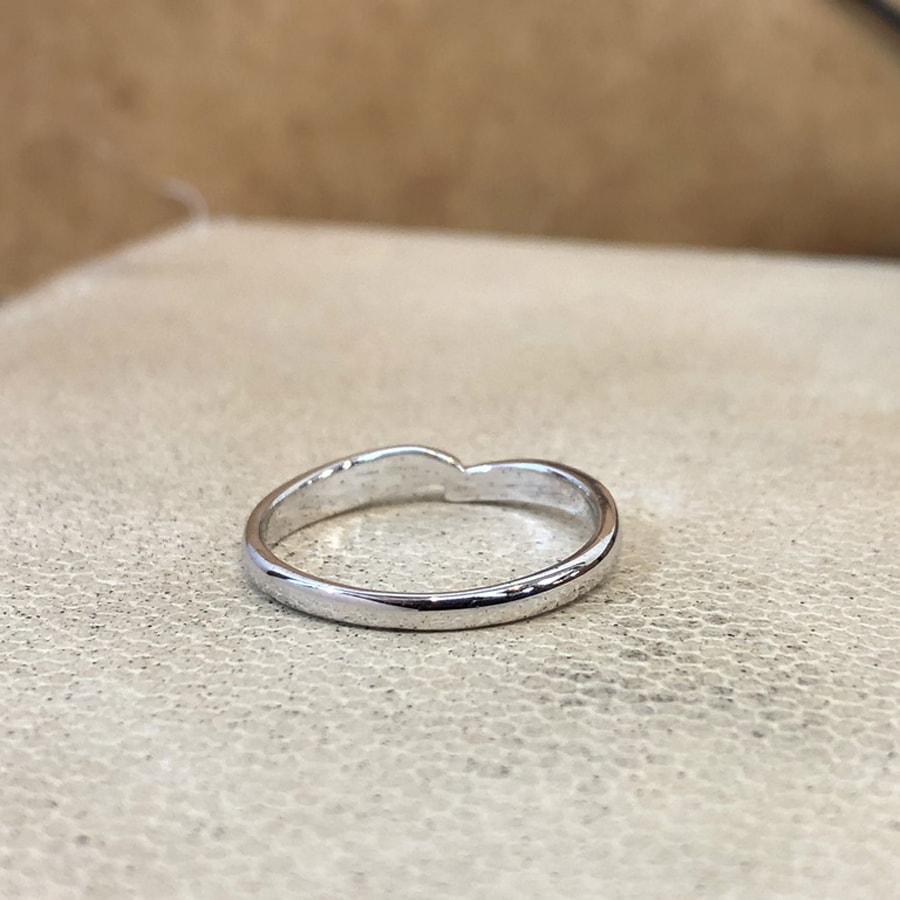 マリッジリング、結婚指輪 「legame(レガーメ)」女性用後ろ