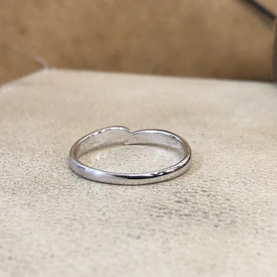 マリッジリング、結婚指輪 「legame(レガーメ)」男性用後ろ