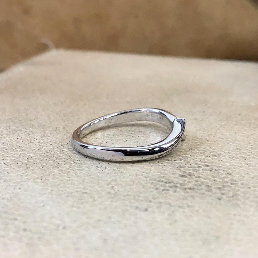 マリッジリング、結婚指輪 「luce(ルーチェ)」女性用右側
