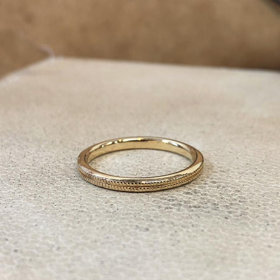 マリッジリング、結婚指輪 「onesto(オネスト)」女性用左側