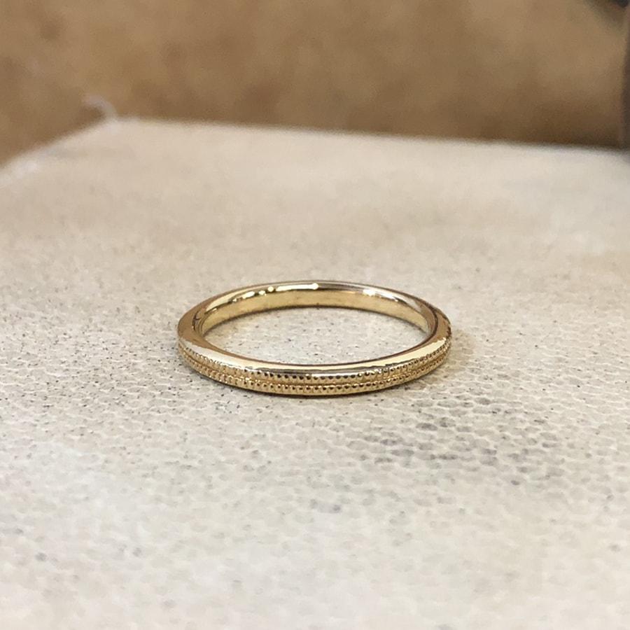 マリッジリング、結婚指輪 「onesto(オネスト)」女性用右側