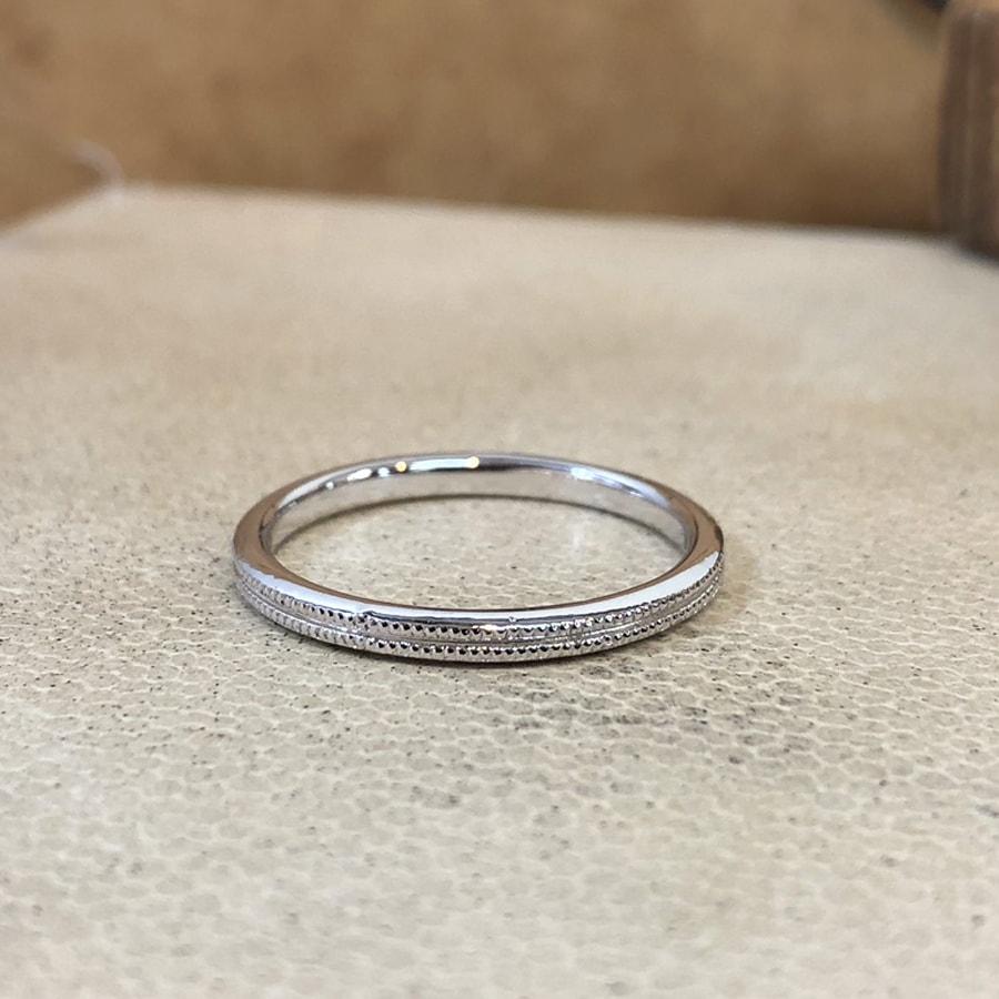 マリッジリング、結婚指輪 「onesto(オネスト)」男性用左側