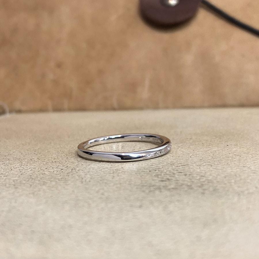 マリッジリング、結婚指輪 「palette(パレット)」女性用右側