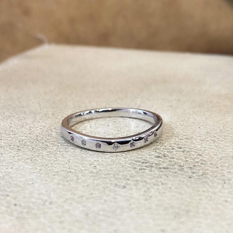マリッジリング、結婚指輪 「puro(プーロ)」女性用正面