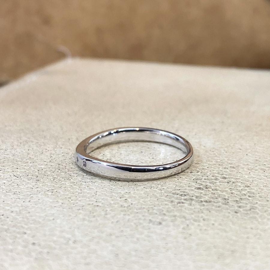 マリッジリング、結婚指輪 「puro(プーロ)」女性用左側