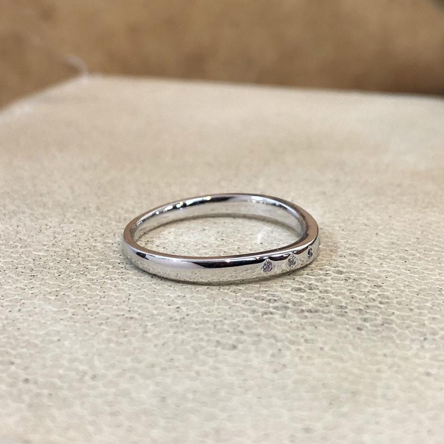マリッジリング、結婚指輪 「puro(プーロ)」女性用右側