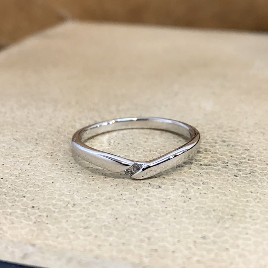 マリッジリング、結婚指輪 「vicino(ヴィチーノ)」女性用正面