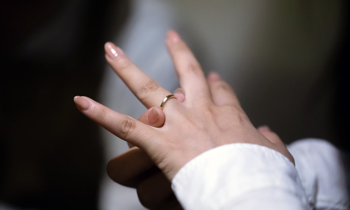 結婚指輪着用イメージ