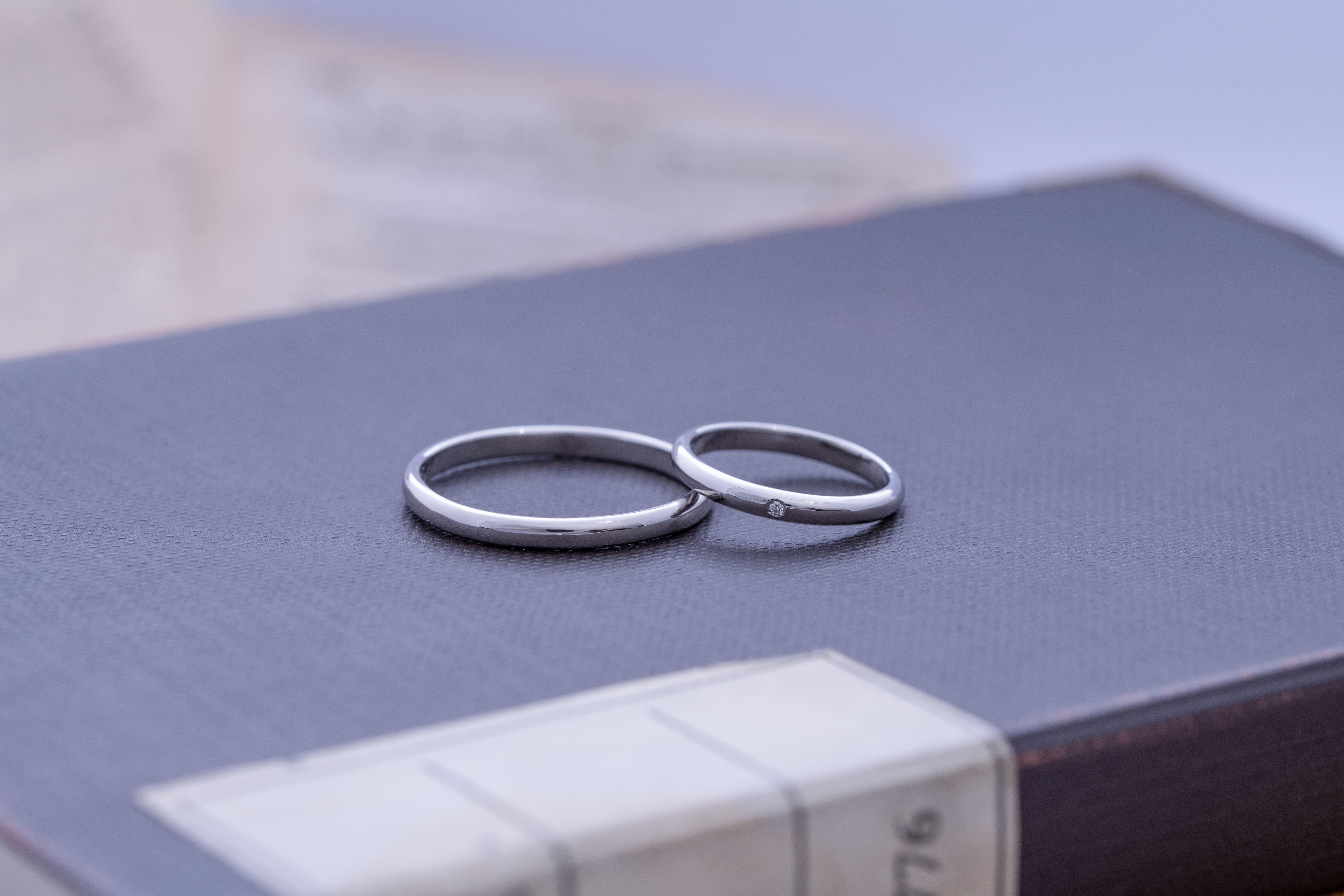 昔ながらのプラチナ結婚指輪 | 結婚指輪手作り作品