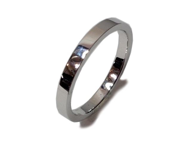 鍛造結婚指輪「平打ち」