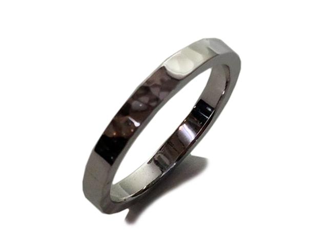 鍛造結婚指輪「鎚目」