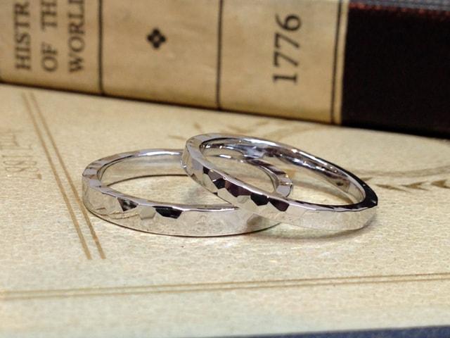 結婚指輪手作りプラン鍛造サンプル2