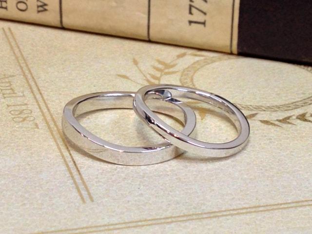 結婚指輪手作りプラン鍛造サンプル1