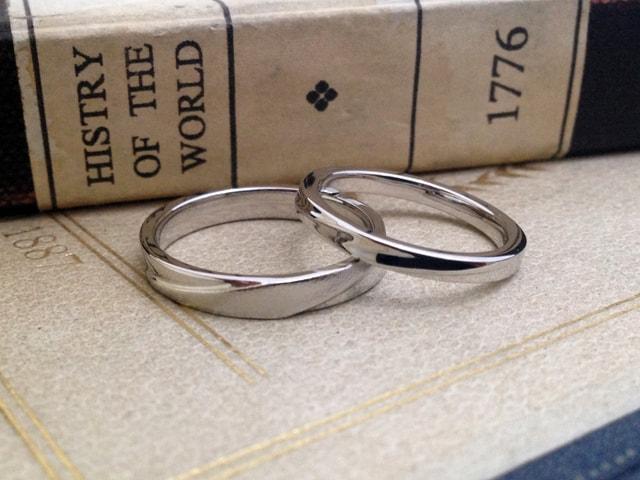 結婚指輪手作りプラン鋳造サンプル2