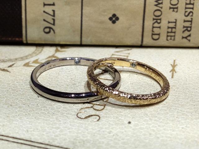 結婚指輪手作り作品ご紹介5